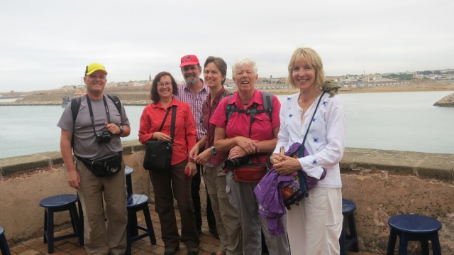 Some of the group in Rabat