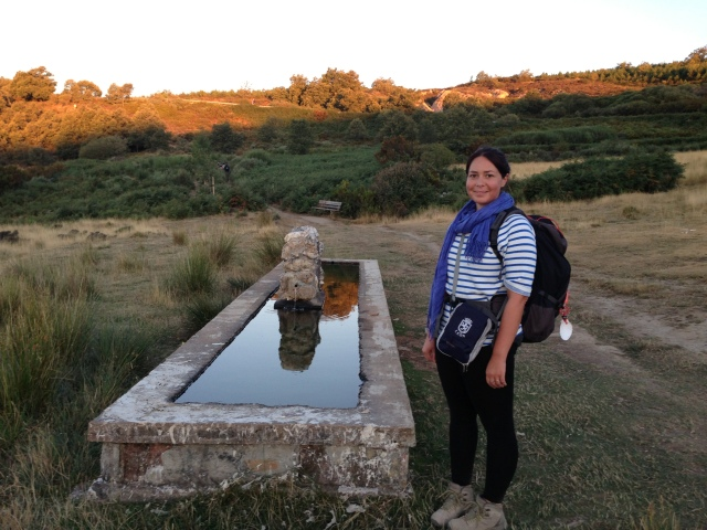 Isabella on the Camino de Santiago