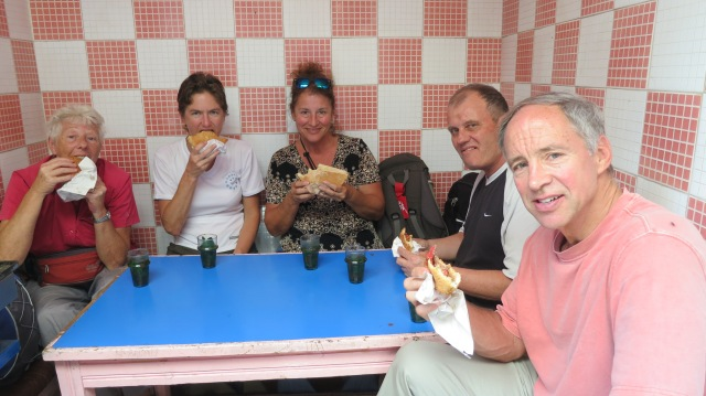 Having Camel Burgers with Ross, Sarah and Dawn