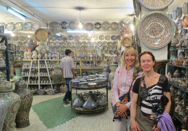 Allison and Chris at Pottery Factory Shop