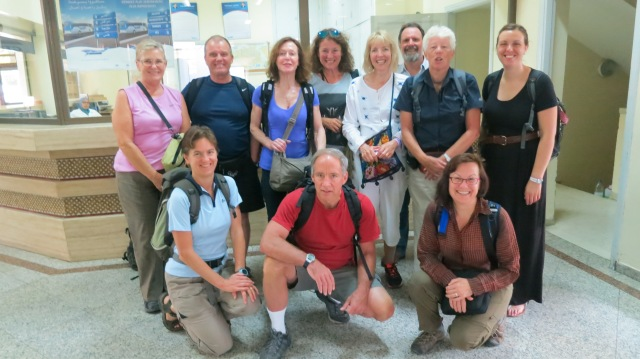 Our Intrepid Group at the Bus Station