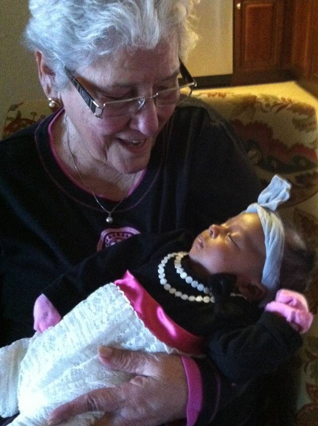 Great Grandma (G.G.) and beautiful Asi Amore Maldonado