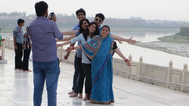 I could not resist this capturing this India family enjoying the moment!
