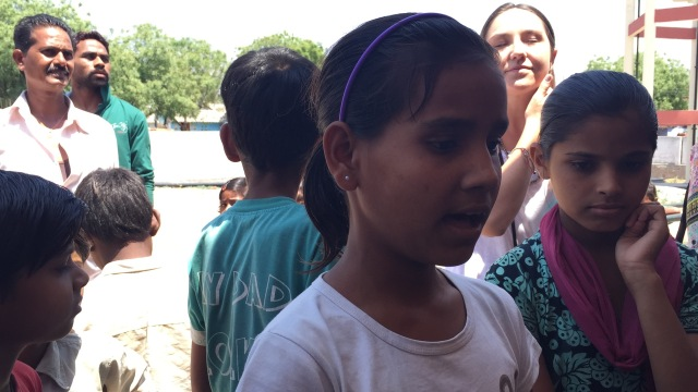 10 year old with angelic singing voice sang for us.