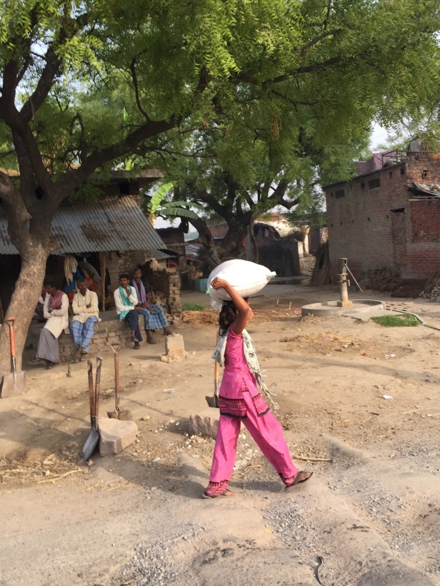 Standard mode of travel in villages by young and old